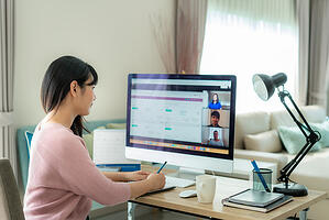 Video conferencing from home